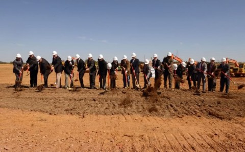 A MILESTONE - With Berry Hill Industrial Park groundbreaking, hopes to attract thousands of jobs