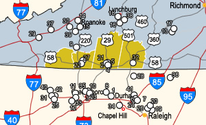 Universities within a 60-mile radius of Southern Virginia Regional Alliance