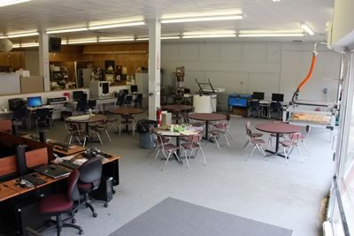 A view of the Patrick Henry Community College Fab Lab in Martinsville, Va