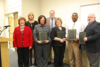 SVCC recognized four instructors who have assisted the college in program development and support of the college in its success in serving Virginia's workforce community.